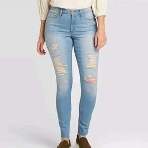 Mid-rise Skinny Jeans Distressed